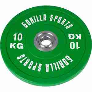 Bumper Plate 10 kg Massief rubber (50/51 mm doorsnede) - Gorilla Sports