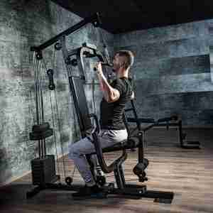 Krachtstation staal faux leer Full body training